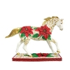 Poinsettia Pony Figurine