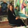 Artist Maria Ryan, in her studio