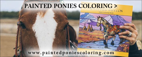 Painted Ponies Coloring Page