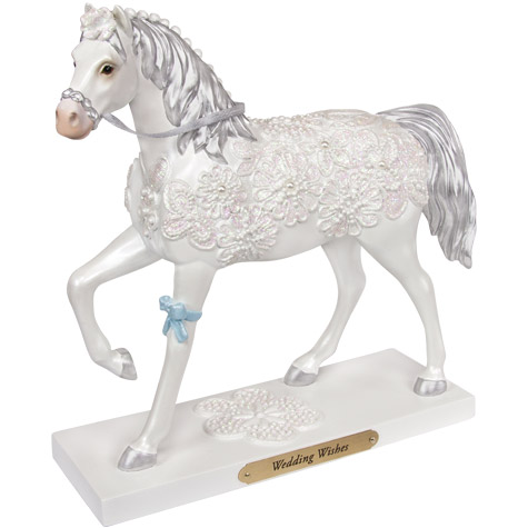 Wedding Wishes Painted Pony